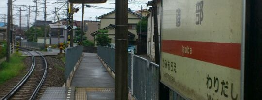 Isobe Station is one of 北陸鉄道浅野川線.