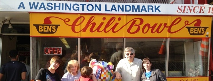 Ben's Chili Bowl is one of Man v Food Nation.