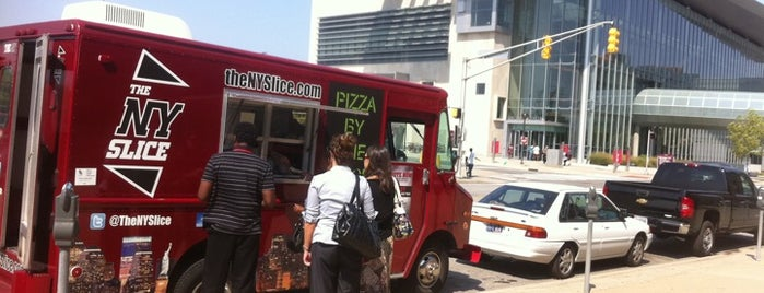 The NY Slice is one of Indy Food Trucks.