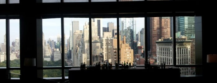 The Lobby Lounge at Mandarin Oriental, New York is one of NYC's Upper West Side.