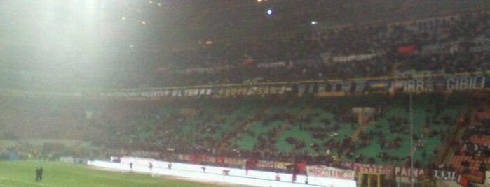 "Stadio San Siro ""Giuseppe Meazza"" is one of Milan City Badge - Milano da bere."