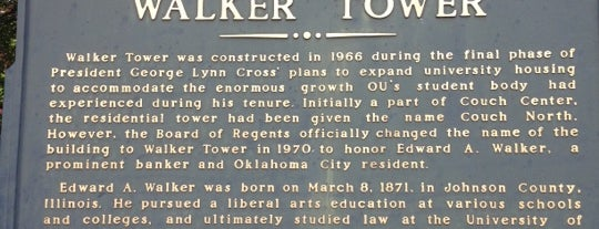 Walker Tower is one of University of Oklahoma.