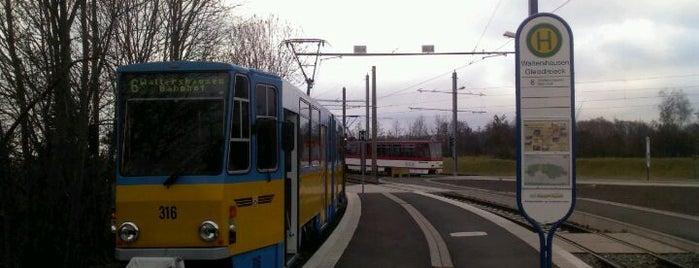 H Waltershausen Gleisdreieck is one of Thüringerwaldbahn.