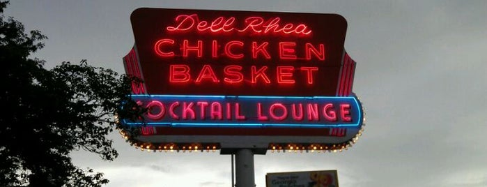 "Dell Rhea's Chicken Basket is one of ""Diners, Drive-Ins & Dives"" (Part 1, AL - KS)."