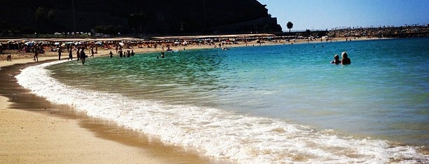 Playa de Amadores is one of Gran Canaria.