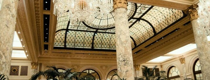 The Oak Room at The Plaza Hotel is one of Literary Bars in Manhattan.