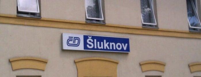 Železniční stanice Šluknov is one of Železniční stanice ČR: Š-U (12/14).