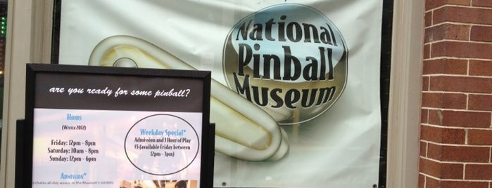 National Pinball Museum is one of B-more.