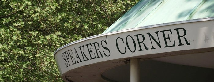 Speakers' Corner is one of Places to Visit in London.