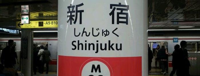 Marunouchi Line Shinjuku Station (M08) is one of Station.