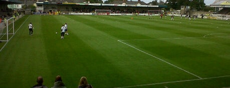 Plainmoor Stadium is one of Football grounds visited.