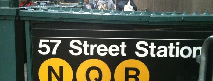 MTA Subway - 57th St/7th Ave (N/Q/R/W) is one of MTA Subway - N Line.