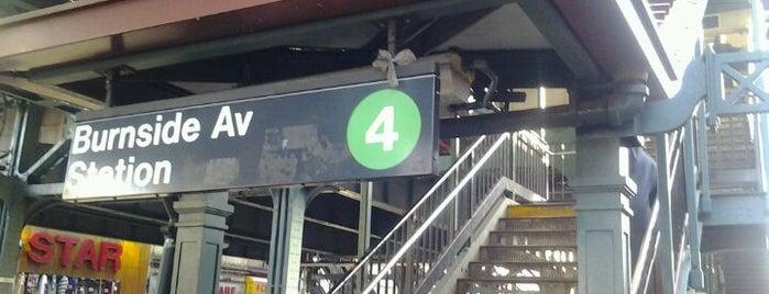 MTA Subway - Burnside Ave (4) is one of NYC Subways 4/5/6.