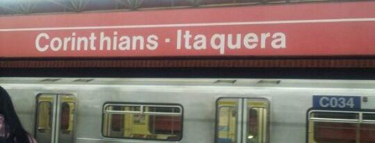 Estação Corinthians-Itaquera (Metrô) is one of Transporte.