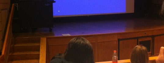Snowden Auditorium is one of usual haunts.