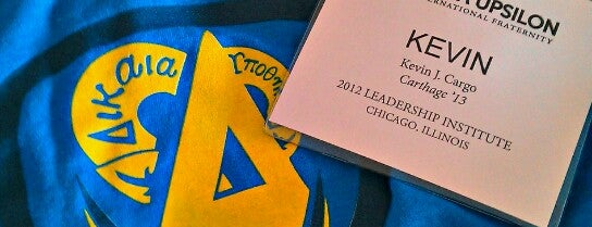 Delta Upsilon Fraternity Leadership Institute is one of 2 do list # 2.