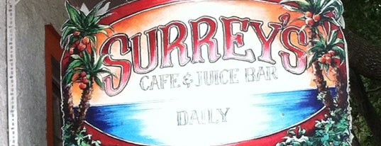 Surrey's Cafe & Juice Bar is one of Triple D Restaurants.