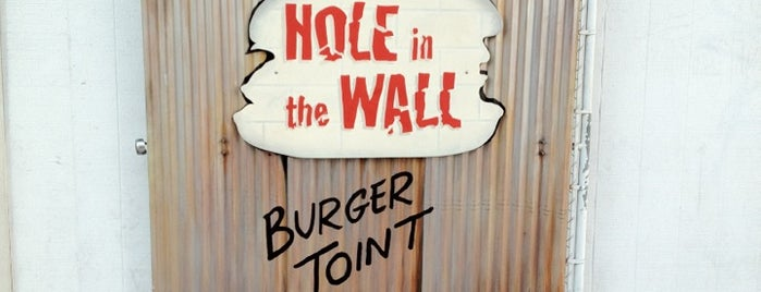 Hole in the Wall Burger Joint is one of THRILLIST'S TOP 5 BURGERS IN LA (2011).