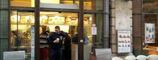 McDonald's is one of Lunch in central Budapest.