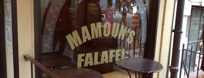Mamoun's Falafel is one of nyc - late night eats.
