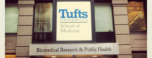Tufts University School Of Medicine is one of Boston City Badge - Beantown.