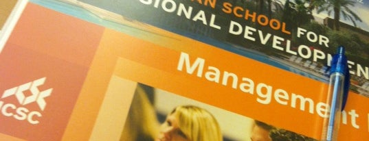 ICSC JTR School for Professional Development is one of Events and Programs.