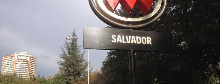 Metro Salvador is one of Estaciones del Metro de Santiago.
