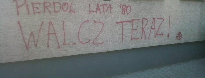 Pierdol lata 80te, walcz teraz! is one of Street Art w Krakowie: Graffiti, Murale, KResKi.