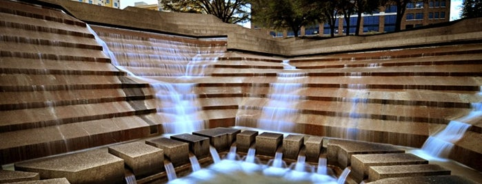 Fort Worth Water Gardens is one of Fort Worth Favorites.