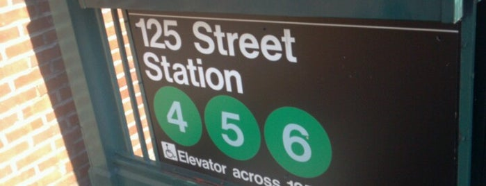 MTA Subway - 125th St (4/5/6) is one of NYC Subways 4/5/6.