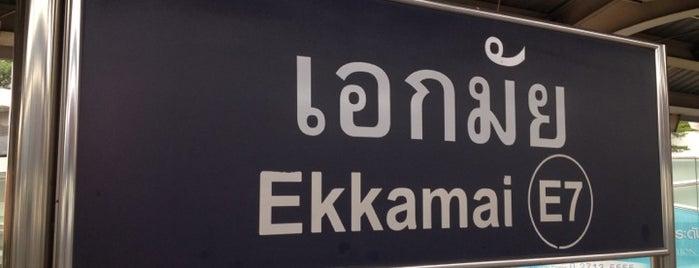 BTS Ekkamai (E7) is one of BTS - Light Green Line (Sukhumvit Line).