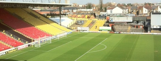 Vicarage Road Stadium is one of UK & Ireland Pro Rugby Grounds.
