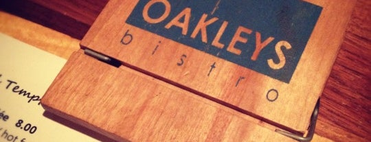 OAKLEYS bistro is one of Places from the reporting trail.