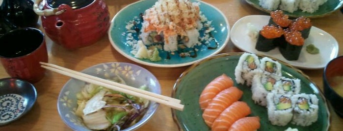 Momo Sushi & Cafe is one of Go-to spots.