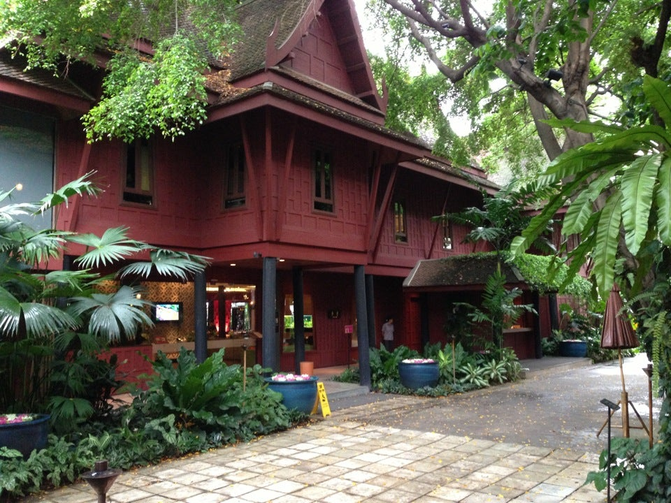 a report from a visit in the jim thomsons house On our recent trip to thailand, my daughter and i decided to visit the jim thompson house and museum in bangkok thompson, a delaware native, is reponsible for reviving the hand-woven thai silk industry and attracting an international market for the silk.