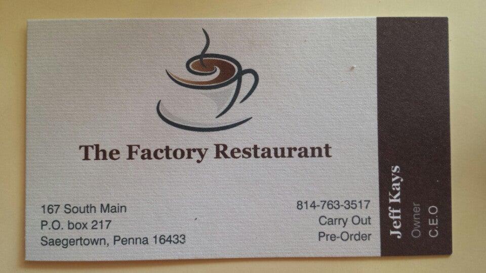 Factory Restaurant,