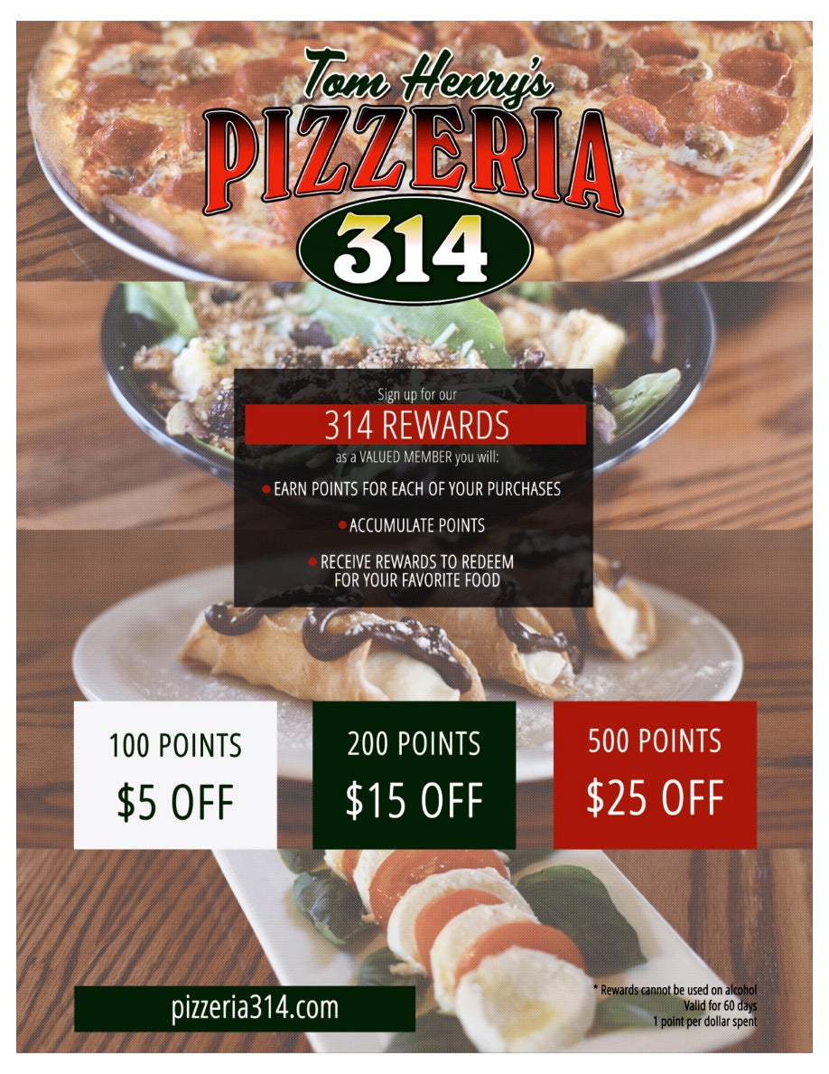 Tom Henry's Pizzaria 314,