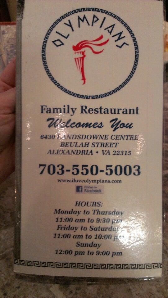 Olympians Family Restaurant,restaurant