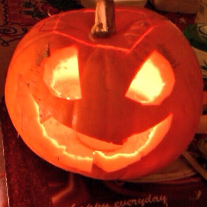 Calabaza decorada por Halloween