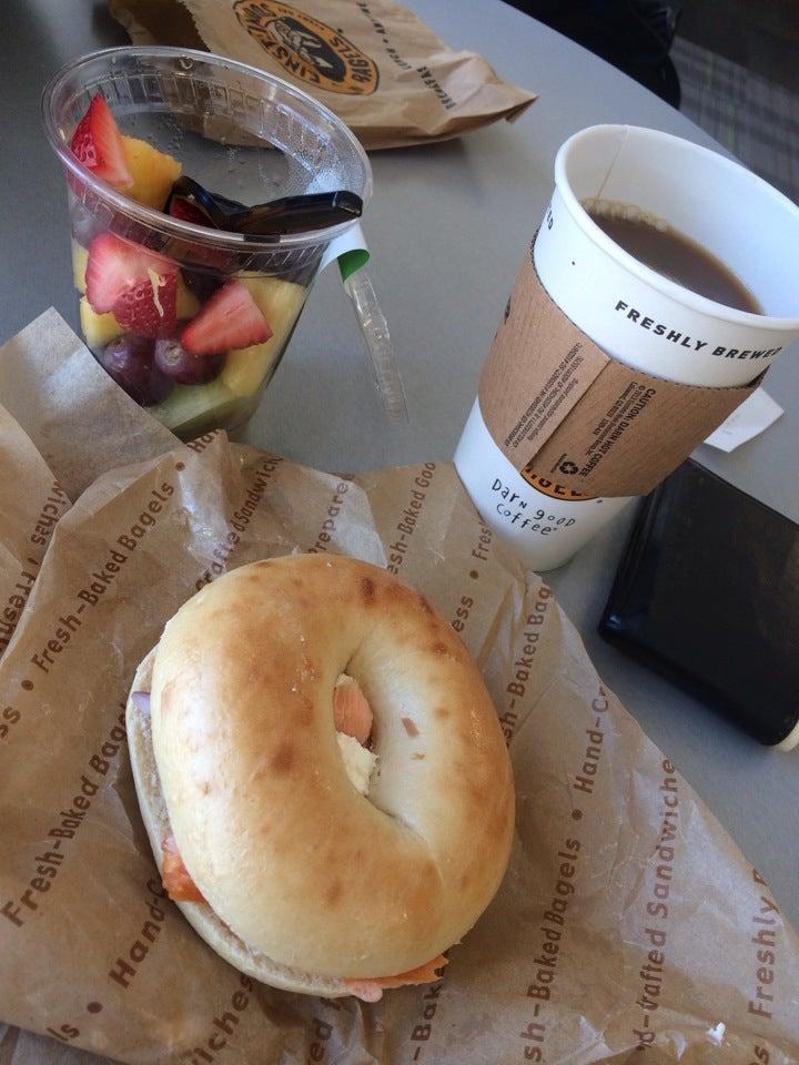 Einstein Bros Bagels,bagels,coffee,sandwiches