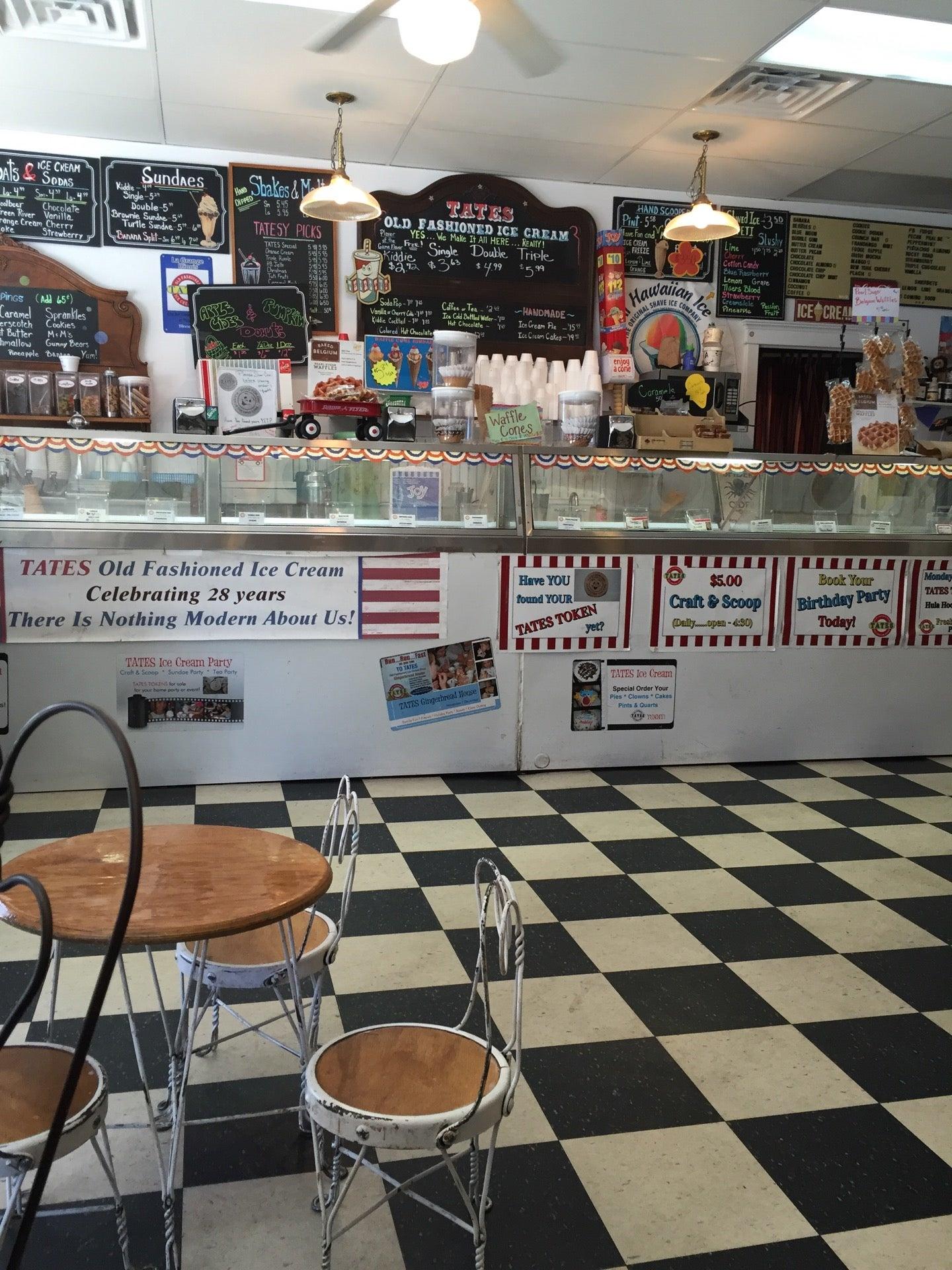 Tates Old Fashinned Ice Cream Shop,ice cream