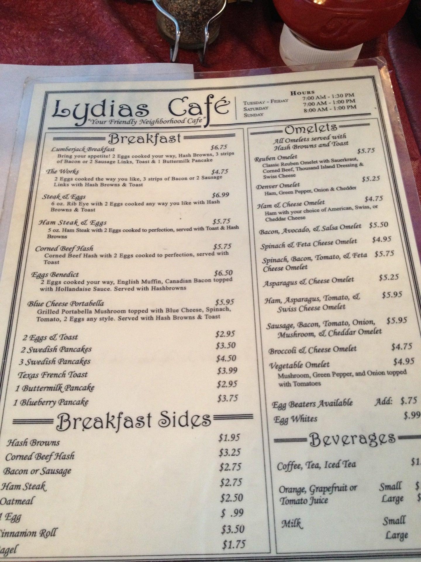 Lydia's Cafe,