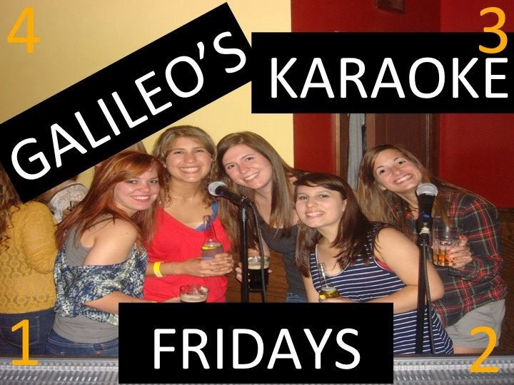 Galileos,college,douchebag,frat boys,fun,karaoke,karoke,trendy,trivia