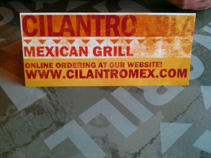 CILANTRO MEXICAN GRILL,burritos,zagat