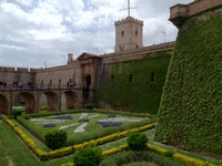 Montjuic Hill And Poble Espanyol Spanish Village