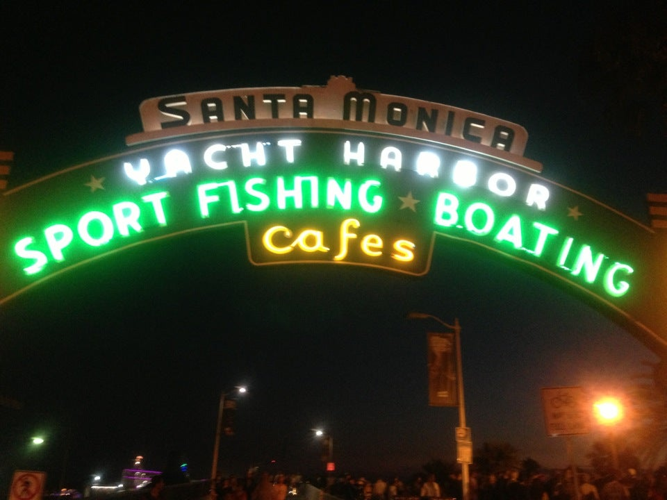 Santa Monica Pier And Beach